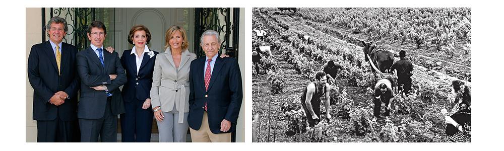 Familien Suqué Mateu og vingården i 1963