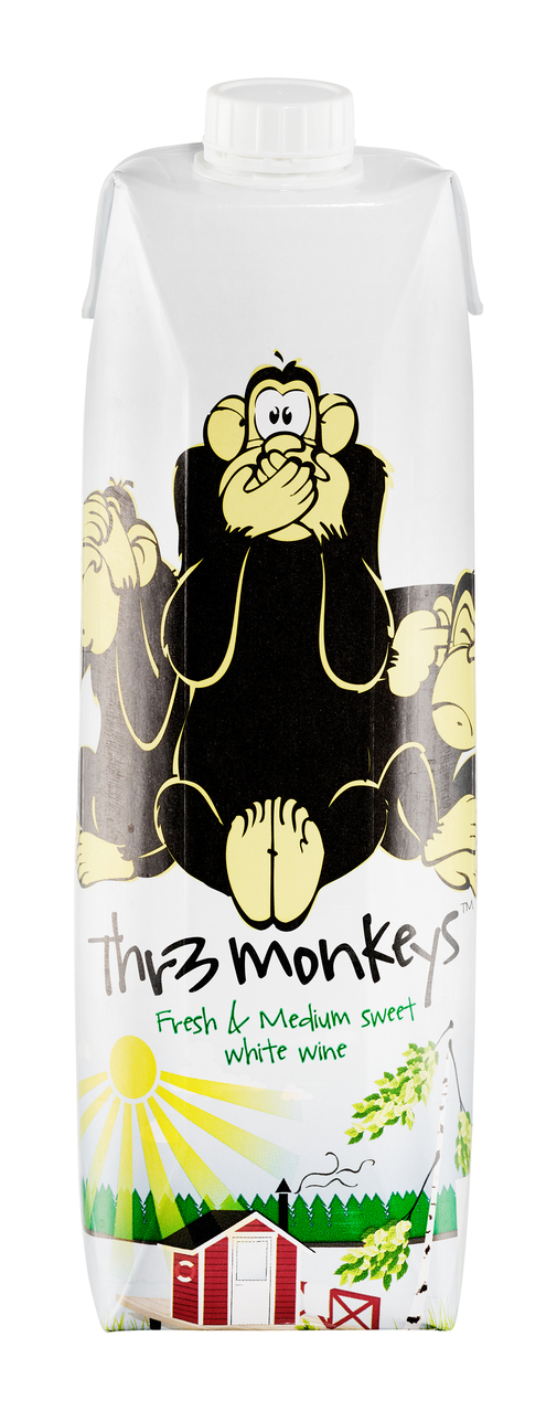 Thr3 Monkeys White