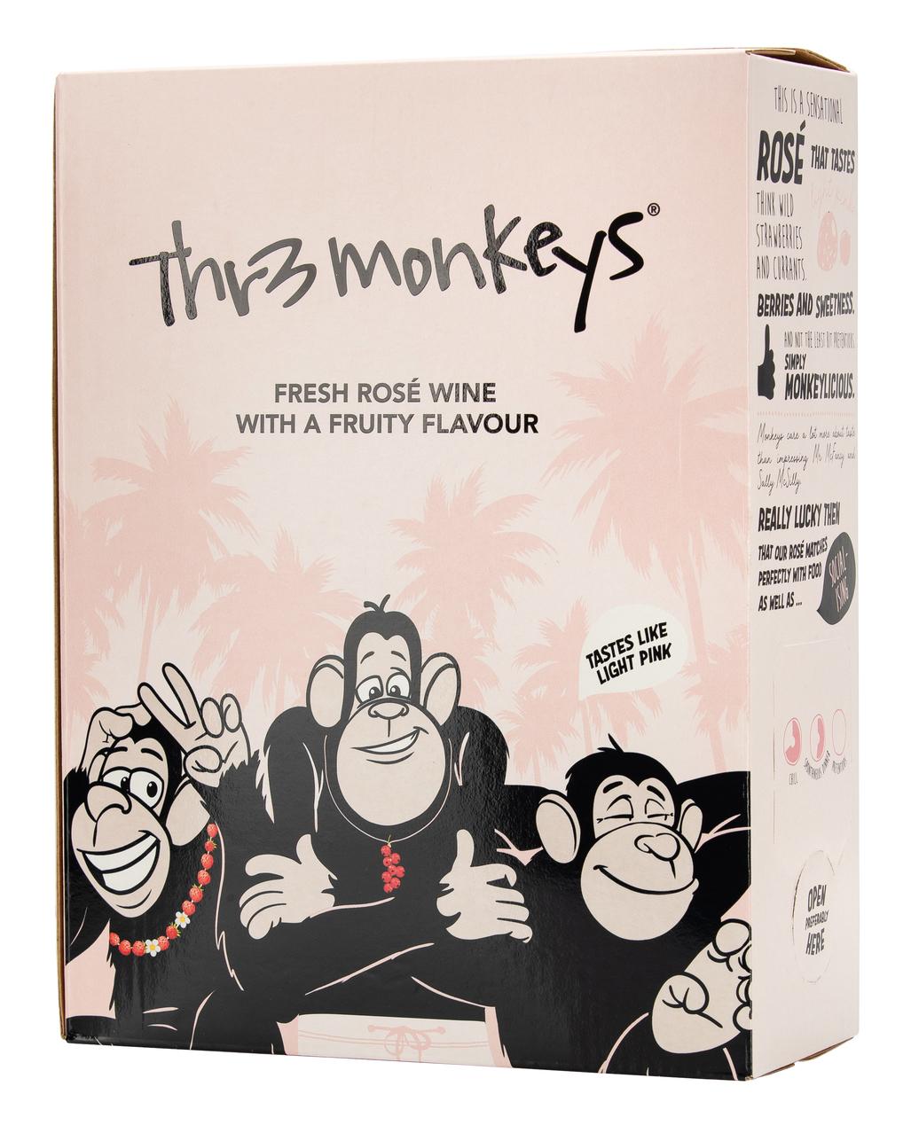 Thr3 Monkeys Rosé